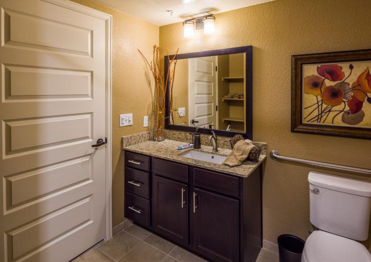 Studio Bathroom - AltaVita Assisted Living in Longmont