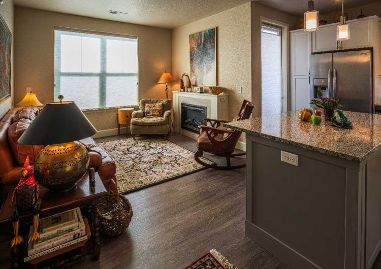 Living Room AltaVita Independent Living Longmont, CO