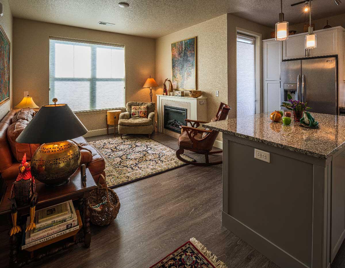 Living Room AltaVita Independent Living Longmont, CO