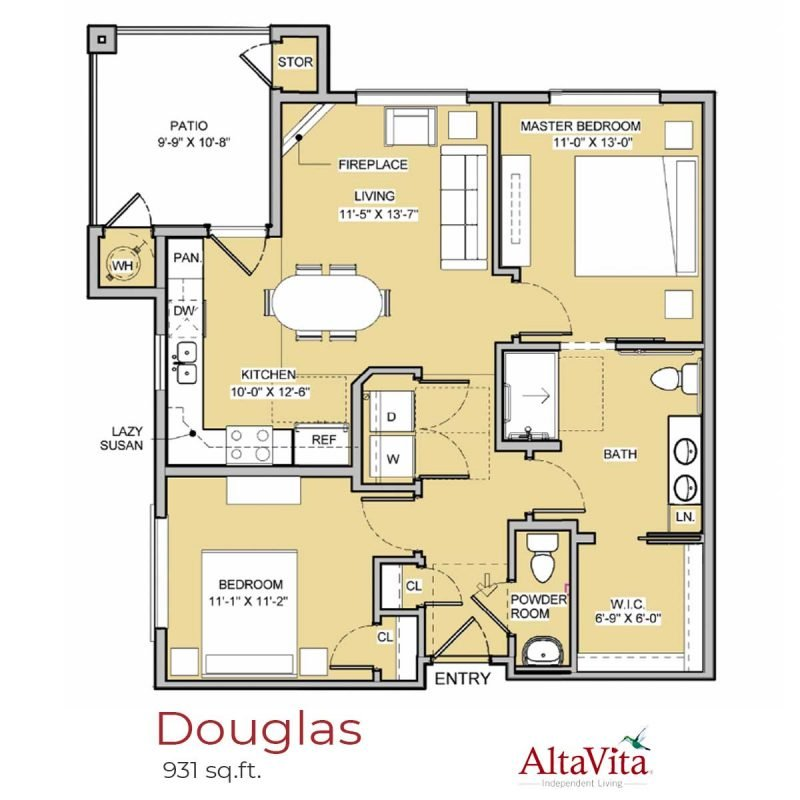 Douglas - AltaVita Independent Living Floor Plans in Longmont, CO