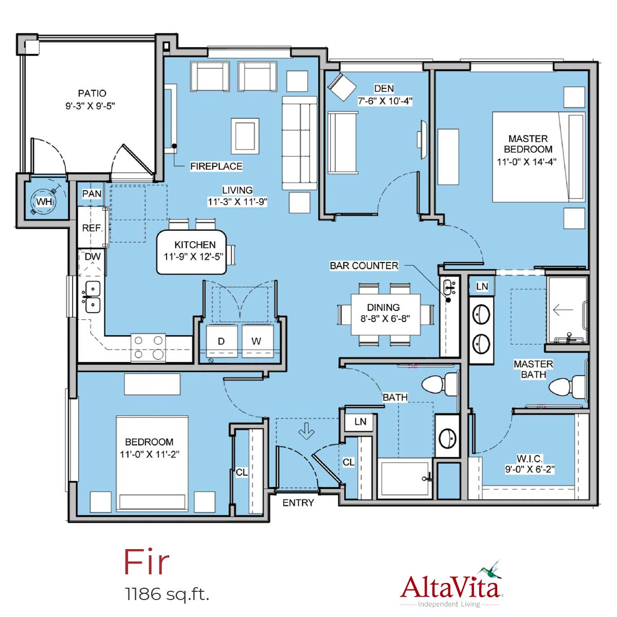 Fir - AltaVita Independent Living Floor Plans in Longmont, CO