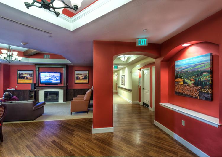 Tuscan Living Room - AltaVita Memory Care Center in Longmont