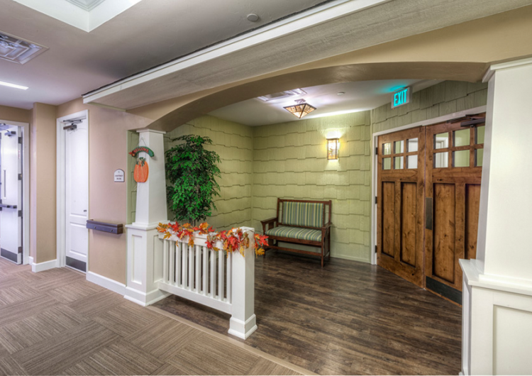Craftsman porch inside - AltaVita Memory Care Center in Longmont